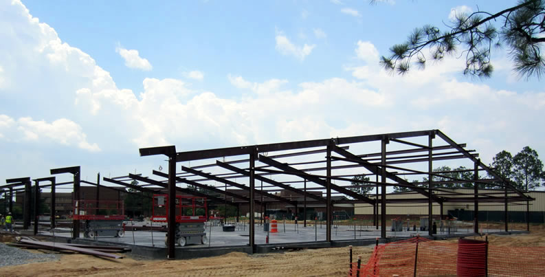 Steel Beam Construction In Progress