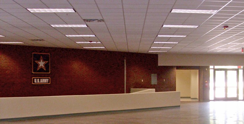 Interior of Training Aids Support Center