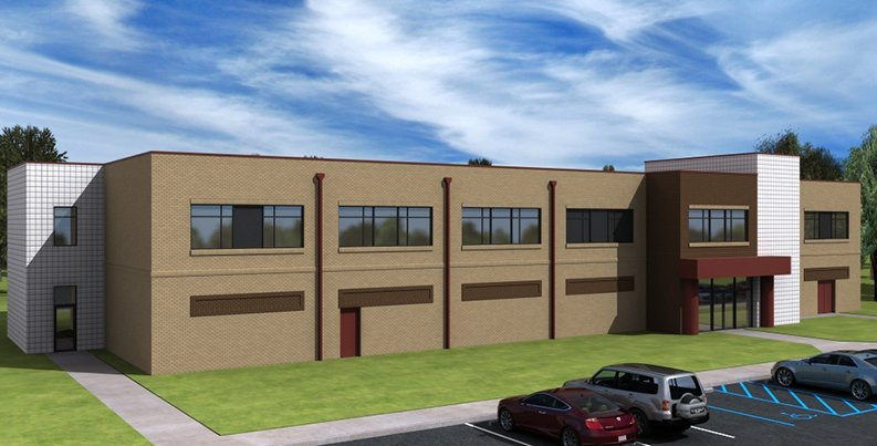 Exterior rendering of Combat Support Services Center