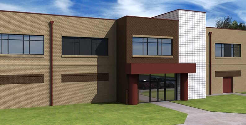 Exterior rendering of Combat Services Support Center