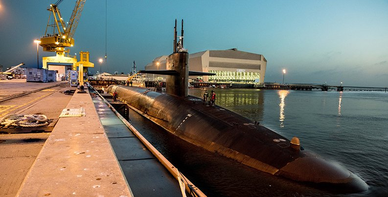 Submarine at NSB Kings Bay (Photo, courtesy US Navy)